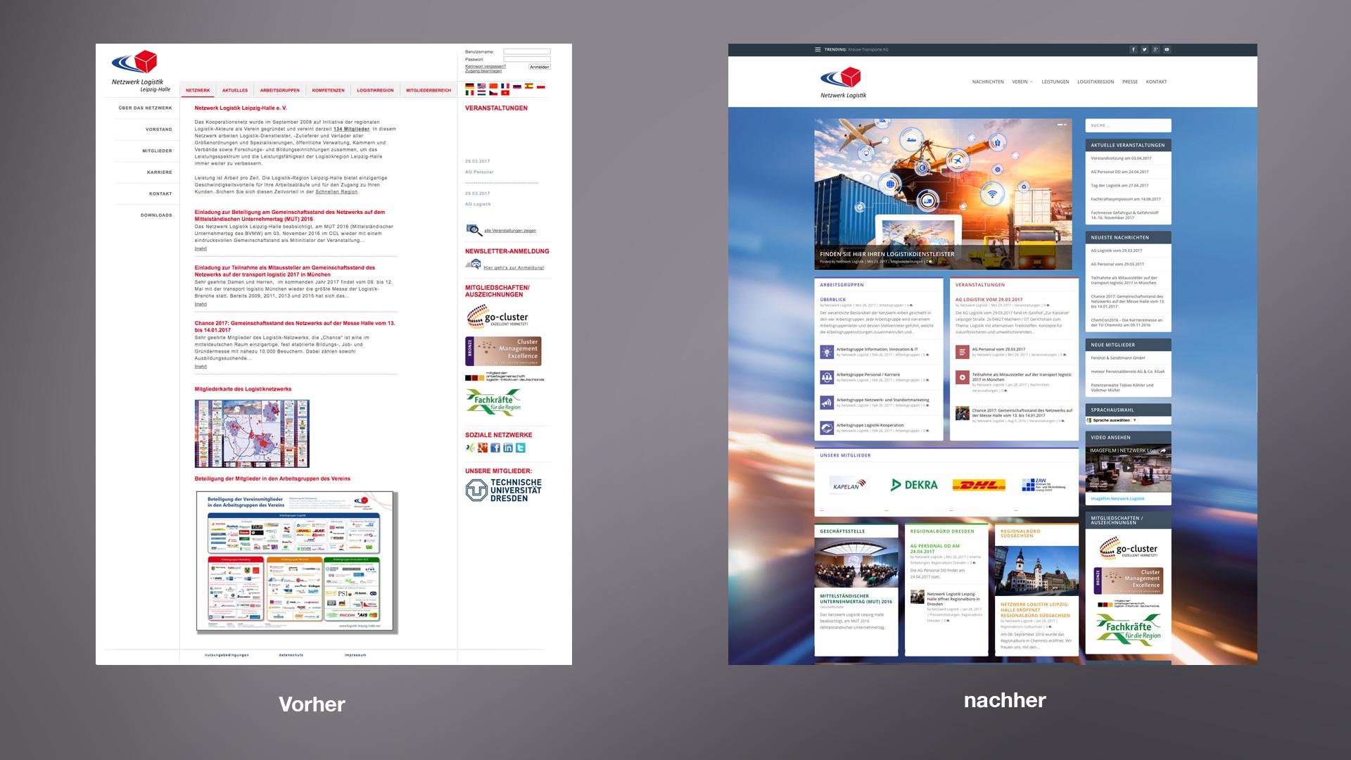 Neue Webseite für das Netzwerk Logistik